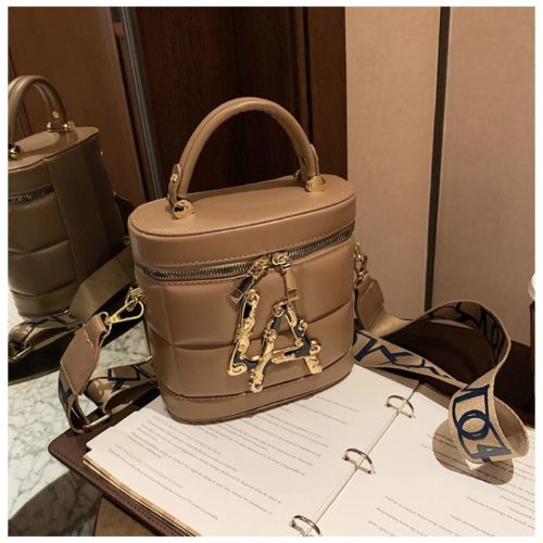 JT9036-khaki Tas Handbag Selempang Wanita Elegan Import
