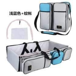 JT90373-lightgray Tas Multifungsi Tempat Tidur Bayi Portable Import