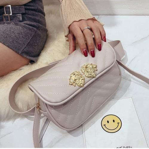 JT905-beige Tas Waist Bag Lion Elegan Tali Selempang