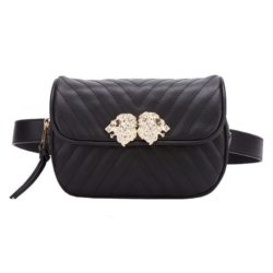 JT905-black Tas Waist Bag Lion Elegan Tali Selempang