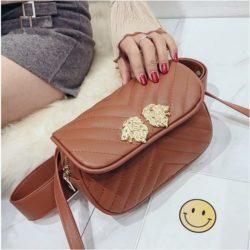 JT905-brown Tas Waist Bag Lion Elegan Tali Selempang
