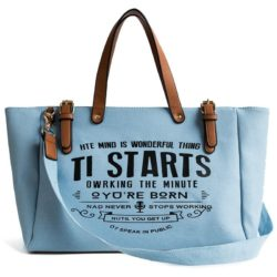 JT9180-blue Tas Tote Bag Casual Modis Import