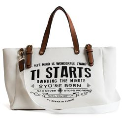 JT9180-white Tas Tote Bag Casual Modis Import