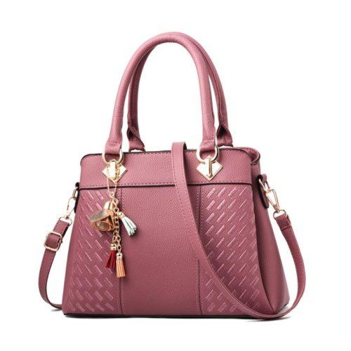 JT91849-darkpink Tas Handbag Selempang Wanita Elegan Terbaru