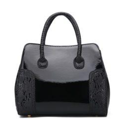 JT922-black Tas Selempang Glossy Import Elegan
