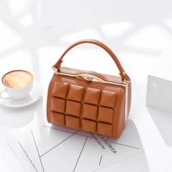 JT92969-brown Tas Selempang Rubic Import Wanita Cantik