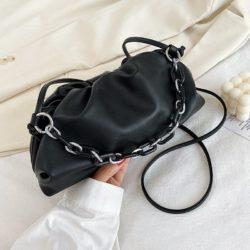 JT93455-black Tas Selempang Handbag Rantai Keren Wanita Cantik