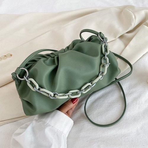 JT93455-green Tas Selempang Handbag Rantai Keren Wanita Cantik