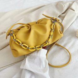 JT93455-yellow Tas Selempang Handbag Rantai Keren Wanita Cantik