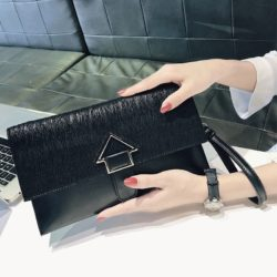 JT93497-black Dompet Clutch Wanita Elegan Terbaru Import