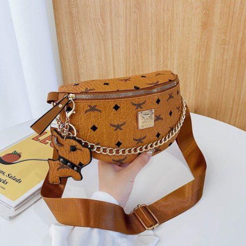 JT94210-brown Tas Waist Bag Wanita Cantik Import Terbaru