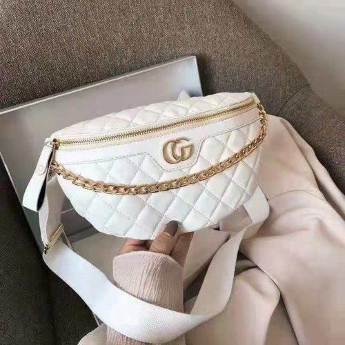 JT9636-white Waist Bag Fashion Import Wanita Cantik Terbaru