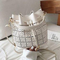 JT9643-beige Tas Serut Selempang Fashion Import Wanita