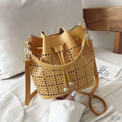 JT9643-yellow Tas Serut Selempang Fashion Import Wanita