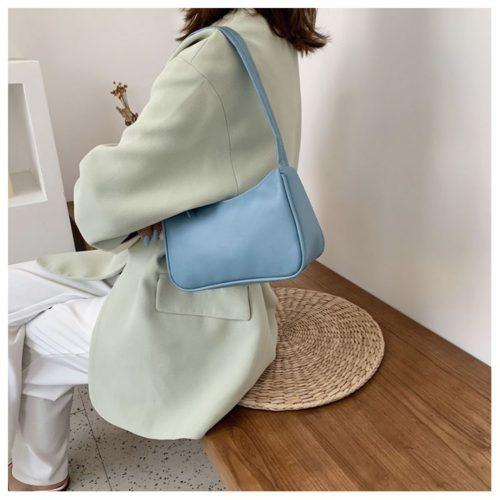 JT9673-blue Tas Shoulder Bag Wanita Cantik Import
