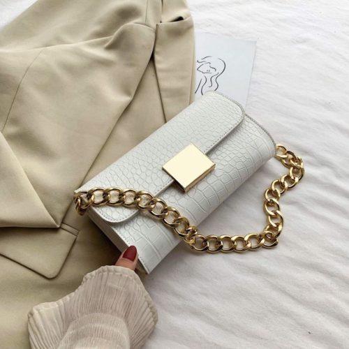 JT9726-white Tas Clutch Handbag Elegan Wanita Cantik