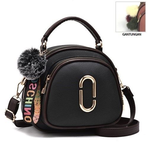JT97658 IDR.162.000 MATERIAL PU SIZE L20XH18XW8CM WEIGHT 550GR COLOR BLACK