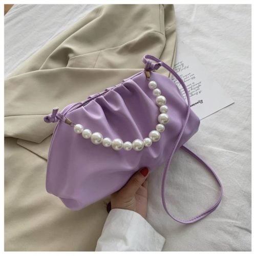 JT9799-purple Tas Selempang Mutiara Wanita Cantik Elegan
