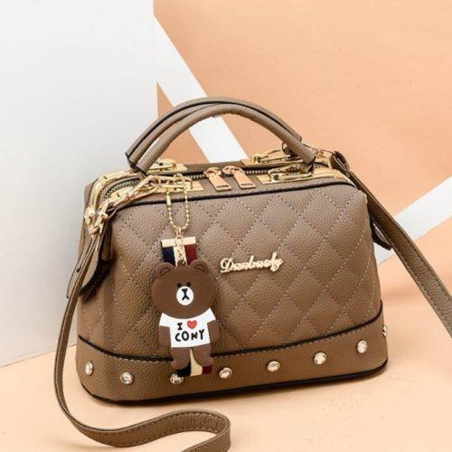JT98723-khaki Doctor Bag Stylish Import Cantik