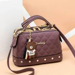 JT98723-purple Doctor Bag Stylish Import Cantik
