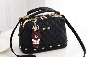 JT98723-black Doctor Bag Stylish Import Cantik