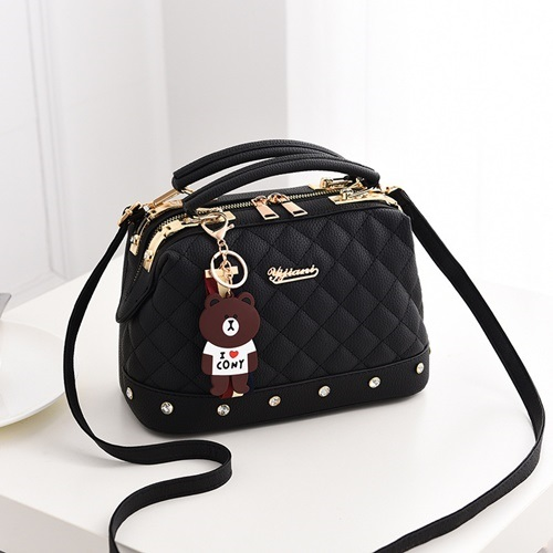 JT98723-black Doctor Bag Stylish Import Cantik