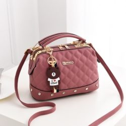 JT98723-darkpink Doctor Bag Stylish Import Cantik