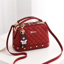 JT98723-red Doctor Bag Stylish Import Cantik