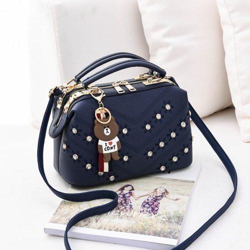 JT98726-blue Doctor Bag Import Gantungan Teddy