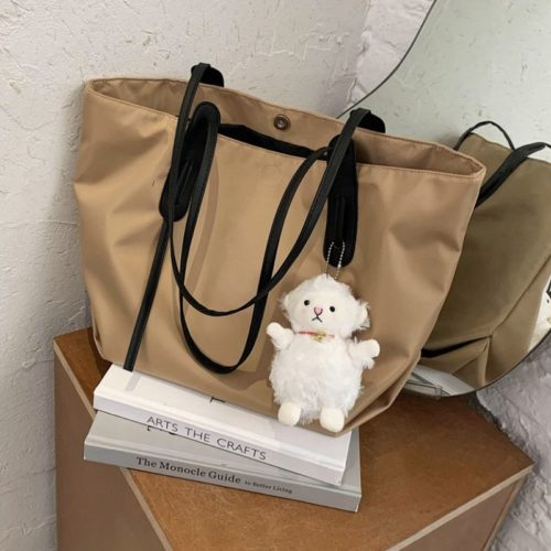 JT9892-khaki Tas Selempag Wanita Gantungan Boneka Import