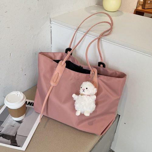 JT9892-pink Tas Selempag Wanita Gantungan Boneka Import