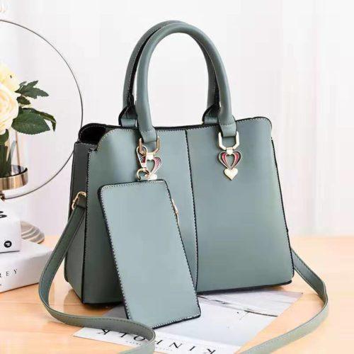 JT9902-green Tas Handbag Wanita Elegan 2in1 Terbaru