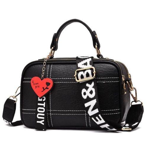 JT991650-black Tas Selempang Cantik Gantungan LOVE Import