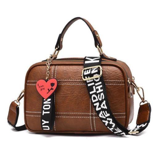 JT991650-brown Tas Selempang Cantik Gantungan LOVE Import