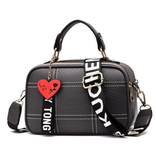 JT991650-gray Tas Selempang Cantik Gantungan LOVE Import