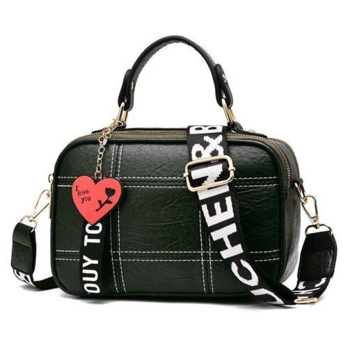 JT991650-green Tas Selempang Cantik Gantungan LOVE Import