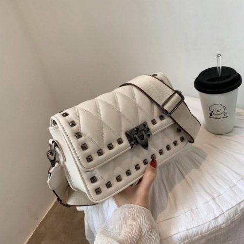 JT9944-white Tas Selempang Fashion Import Wanita Cantik Terbaru