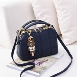 JT99870-blue Doctor Bag Elegan Wanita Gantungan Cony