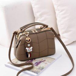 JT99870-khaki Doctor Bag Elegan Wanita Gantungan Cony