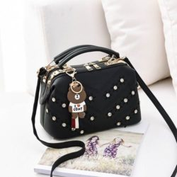JT998726-black Doctor Bag Import Gantungan Teddy