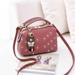 JT998726-pink Doctor Bag Import Gantungan Teddy