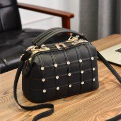 JT998727-black Doctor Bag Fashion Import Wanita Cantik