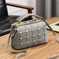 JT998727-gray Doctor Bag Fashion Import Wanita Cantik