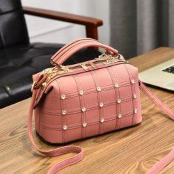JT998727-pink Doctor Bag Fashion Import Wanita Cantik