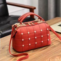 JT998727-red Doctor Bag Fashion Import Wanita Cantik