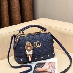 JT998728-blue Doctor Bag Fashion Elegan Gantungan Line Brown