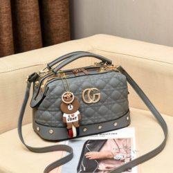 JT998728-gray Doctor Bag Fashion Elegan Gantungan Line Brown
