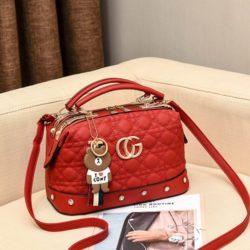JT998728-red Doctor Bag Fashion Elegan Gantungan Line Brown
