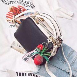 JT998746-black Doctor Bag Fashion Cantik Gantungan Lucu