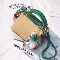 JT998746-khaki Doctor Bag Fashion Cantik Gantungan Lucu